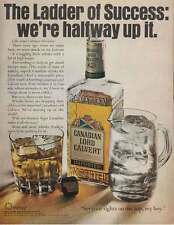 1967 Canadian Lord Calvert Whisky: Ladder of Success Print Ad (17742)