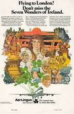 1977 Aer Lingus Irish Airlines: Flying to London Print Ad (21587)