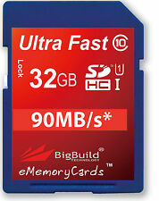 32GB Memory card for Canon Legria FS406 Camcorder | Class 10 80MB/s SD SDHC New