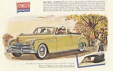 1949 Plymouth Convertible Club Coupe: Sport to Drive Print Ad (7242)