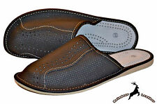 Men Buffalo Leather Handmade Indoor Black Slippers Shoes S Slip On Mens Scuff