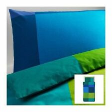 Ikea BRUNKRISSLA Duvet cover and pillowcase Blue Multicolor -  TWIN NOOP
