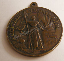 Joan of Arc France Antique Replica Medal Pendant Sterling Silver or Bronze 440