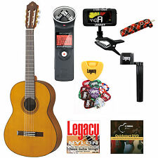 Yamaha CG162C Guitar w/Legacy Classical String Kit and Zoom H1 Recorder