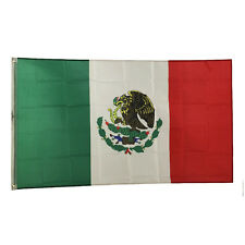 New 3'x5' Polyester Mexico Flag Mexican Country Soccer Outdoor Banner Grommets