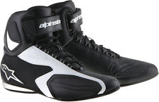 ALPINESTARS Womens FASTER Road/Street Motorcycle Shoes (Black/White) Choose Size