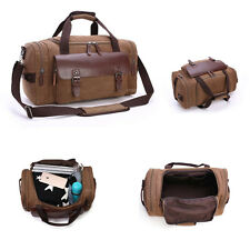 Vintage Mens Genuine Leather Duffle Travel Gym Shoulder Bag Hand Luggage Handbag