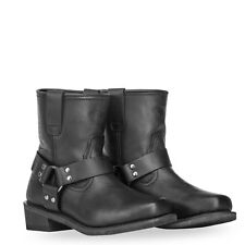 HIGHWAY 21 Men's SPARK LOW Harness Leather Riding Boots (Black) Choose Size