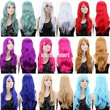 USPS Women Long Curly Fancy Dress Wigs Cosplay Costume Ladies Full Wig Party #Q6