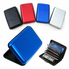 Men Aluminum Credit Card Holder, Wallet, RFID Protection, WaterProof Pocket Case