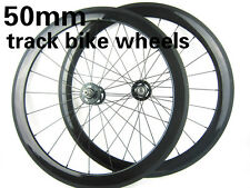 50mm Carbon Track Bicycle Wheelset Single Speed Fixed Gear Carbon Bike Wheel