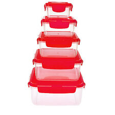 Lock & Lock 5-Unit Nestable Square Food Storage Container Set (HPR141658)