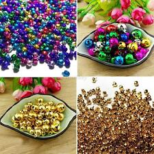 300PCS JINGLE BELL Loose Beads Christmas Jingle Bells Pendants Charms 6mm