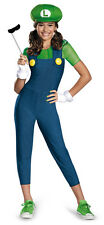 Child Tween Girl Nintendo Video Game Super Mario Bros. Luigi Jumpsuit Costume