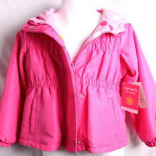 CARTERS GIRLS PINK POLKA DOT REVERSIBLE HOODED JACKET COAT 2T, 3T OR 4T  NWT