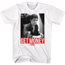 Scarface 1980's Gangster Crime Movie Al Pacino Get Money Montana Adult T-shirt