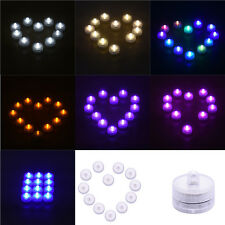 12Pcs Waterproof LED Submersible Round Candle Tea Lights Wedding Decor Candles