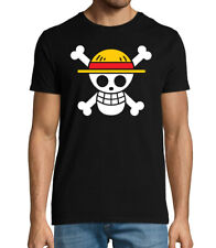 One Piece straw hat pirate crew flag anime T shirt