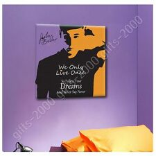 Synthetic CANVAS +GIFT Justin Bieber Never Say Never Alonline Designs Poster
