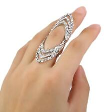 Punk Goth Gold Silver Hinged Midi Hollow Knuckle Ring Band Tip Finger Stacking