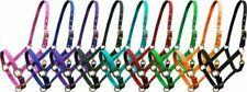 Adjustable Full HORSE Size Triple Ply Nylon Western HALTER with Brass Hardware