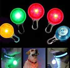 Pet Dog Cat Puppy LED Flashing Lighted Collar Safety Night Light Pendant Toy ONE