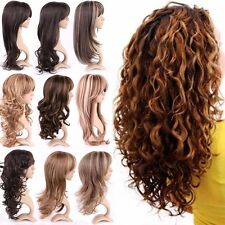Thick Blonde Brown Long Curly Straight Wavy Full Wigs Cosplay Party Anime Hair #