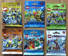LEGO Series 2 3 4 5 6  Factory Sealed Complete Sets of 16 Minifigures Unopened