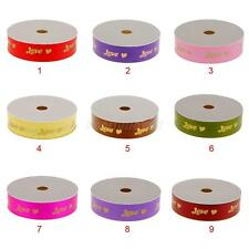 50 Yards LOVE Print Ribbon Wedding Party Decoration Gift Wrapping Craft 9 Colors