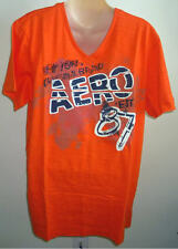 Men AEROPOSTALE Scratched Off V-Neck Graphic T-Shirt size L NWT #1350