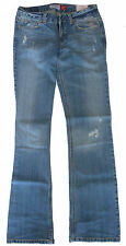 Womens AEROPOSTALE Low Rise Skinny Bootcut Chelsea Jeans Studded w/ Peace Sign