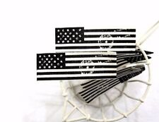 1 x American flag Label / 2cm x 5.8cm Cotton Label / Sew on craft Label (La312)