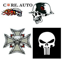 2pc Evil SKULL The Punisher Head Series Sticker Decal Car Side For F-150
