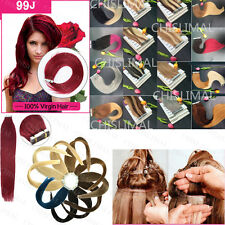 "BEST Remy Human Hair Extensions Seamless Tape In Skin Weft 16"" & 20"" 20PCS 8A"