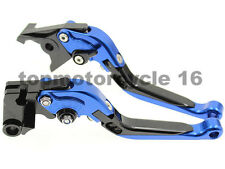 FXCNC Extending Folding Brake Clutch Levers For Yamaha YZF R1 R3 R25 R125 Blue