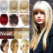 100% Real Clips on Bangs Fring Straight Hair Piece Clip in Hair Extensions B111