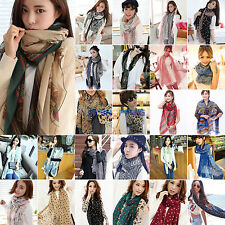 Womens Scarf Neck Stole Shawl Wrap Long Beach Cover Neckerchief Scarves Outdoor