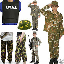 New Kids Childrens Armed Forces Fancy Dress Costumes Accessories Complete Outfit