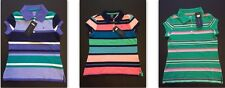 NW TOMMY HILFIGER Polo Shirt Girls Striped Classic Kids Children