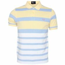 Fred Perry Stripe Oxford Pique Polo Shirt Men's Short Sleeved Top M7202-340