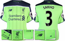 *16 / 17 - NEW BALANCE ; LIVERPOOL 3RD SHIRT + PATCHES SS / SAKHO 3 = SIZE*