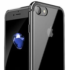 New Ultra thin Rubber/Metal Bumper Case Clear Hard Cover For iPhone 6 6s 7 Plus