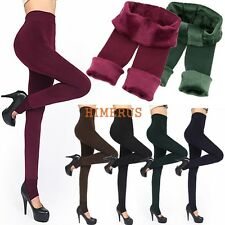 6 Colors Women Winter Thick Warm Fleece Lined Stretchy Skinny Leggings Pants