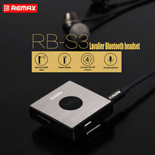 REMAX Lavalier Clip-on Bluetooth Wireless Headset Earphone Headphone for Phones