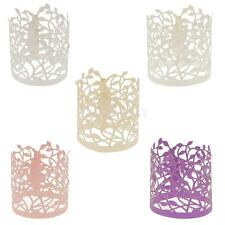 Lot of 20pcs Flower Leaves Paper Tea Light Holder Wedding Party Decoration