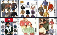 OOP McCall's Mens Country Western Cowboy Shirt McCalls Sewing Pattern You Pick