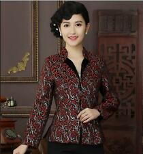 Charming Chinese Women's silk jacket /coat Cheongsam Sz: M L XL 2XL 3XL
