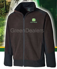 John Deere Dickies Adults Brown Barton Fleece Jacket Coat - all sizes S - XXL
