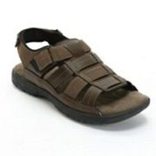 Croft & Barrow Brown Leather Sandals Mens