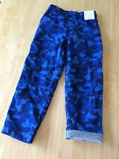 NWT Gymboree Boys Jersey Lined Pull on pants Gymster Blue Camo 5,6,7